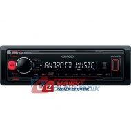 Radio samoch.KENWOOD KMM-102RY USB/AUX RED czerwone podświetlenie