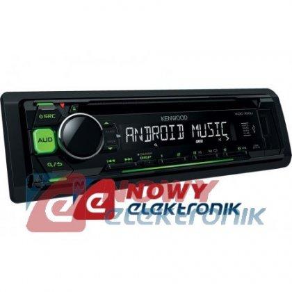 Radio samoch.KENWOOD KDC-100UG  CD+USB Green zielone podświetlenie