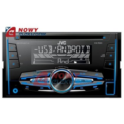 Radio samoch.JVC KW-R520 2-DIN Vario Color+FLAC CD+USB /bluetooth redy/