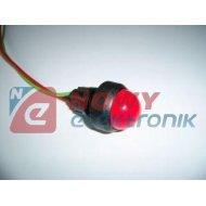 Kontrolka LED FI-20/12V-24V żółt AC/DC