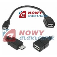 Kabel USB Gn.A-mikroUSB wt. 0.2m HOST OTG (micro)