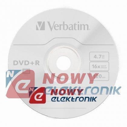 Płyta DVD-R VERBATIM 4,7GB 10szt 16x kpl.10szt