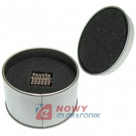 Neocube 3mm 216szt N35 Pudełko NEPOWER magnes kulki magnetyczne klocki