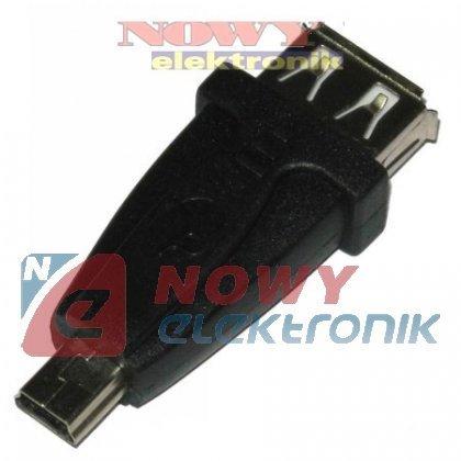 Przejście USB gn.A/wt.miniUSB 5p