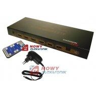 Spliter HDMI 4/2 Przełącznik 3D Switch Matrix 4xIN 2xOUT 1.4b