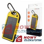 POWERBANK solarny PB016 5Ah żół. 5000mAh bateria (ładowarka) awaryjna