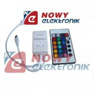 Sterownik LED RGB IR 24przyc. 3A RGB MAX36W/12V
