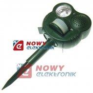 Odstraszacz ptaków PIR z lamp ostrzegawczą  NE503