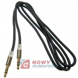 Kabel jack 3,5st wt-wt.1m czarny Mp3 Iphone Ipod NEPOWER