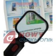 Lupa 3x ręczna 80x80mm/3D podśw 4x LED