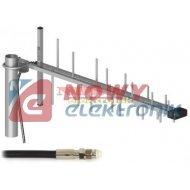 Antena GSM ATK-LOG LTE 3G 4G 5m HSDPA/UMTS/DCS 800-2170MHz gn.FME