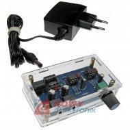 Wzmacniacz słuchawkowy TS-904  Jack z zasilaczem 12VDC zestaw złożony