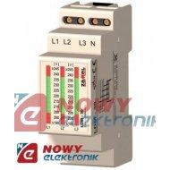 Wskaźnik napięcia 3-Faz LDM-30 230/400V AC ZAMEL /zasilania