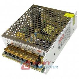 Zasilacz imp. 12V 60W 5A CCTV LED, NEPOWER Przemysłowy