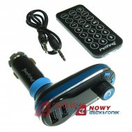 Transmiter FM z ład. USB 5V/2.1A ładowarka Bluetooth (12-24V)