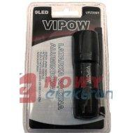 Latarka ręczna VIPOW  9-LED srebrna