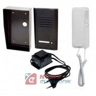 Zestaw Domof. Cyfral 1ab BRĄZ/SM z unifon Smart(biały)  /Domofonowy