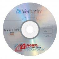 Płyta DVD+RW Verbatim 4,7GB 10sz kpl 10szt