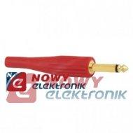 Wtyk JACK 6,3mm MONO plast.złoty 8-0037]