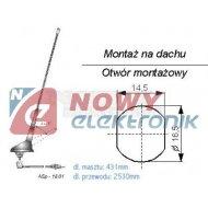 Antena samochodowa ASp-18.01 dachowa z kablem