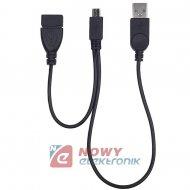 Kabel USB Wt.A/Gn.A-mikroUSB wt. (micro) rozgałęźnik OTG
