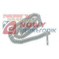 Kabel telef. Spiralny 4m biały /beżowy