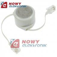 Kabel telef. rozwijany 2,8m 6p4c RJ11