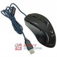 Mysz Optyczna Gamingowa WESDAR X4 2100DPI Czarna HQ regul.DPI podśw.LED