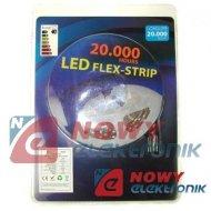 Taśma LED ZESTAW 3528 Bia.ci. IP 5m 300LED + zasil(biały ciepły)