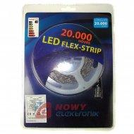 Taśma LED ZESTAW 2835 Bia.zi. 5m 300LED + zasilacz (biały zimny)