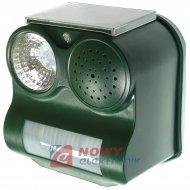 Odstraszacz ptaków solarny z lampą błyskowo dzwiękowy NE192C