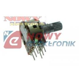 Potencjometr RV 16GN/PH/2x20KB15 15kQ krótka oś,stereo