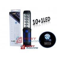 Lampa warsztatowa insp. 10+1LED LED ABS 3XAA latarka