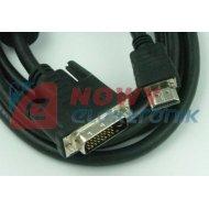 Kabel HDMI - DVI 1.8m