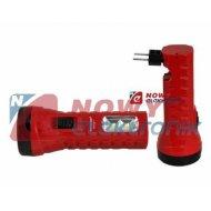 Latarka ręczna 1LED+2 TS-1129-1 230V z akumulatorem