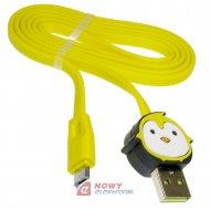 Kabel USB-micro 1m WESDAR gugu  Do smartfona/tabletu dla dzieci