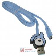 Kabel USB-micro 1m WESDAR momo  Do smartfona/tabletu  dla dzieci