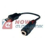 Adaptor gn. Jack 3,5/wt.USB mini typ Motorola