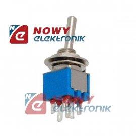Przełącznik VS5203 6pin/2poz on-on VITALCO miniat. dźwigniowy