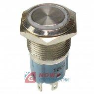 Przycisk metal. JH16-11 biały bistabilny podświetlany