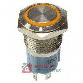 Przycisk metal. JH16-11 żółty bistabilny podświetlany