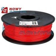 Przewód PLA 3mm czerwony 1kg filament surowiec drukarka 3D