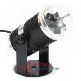 Efekt Projektor obrotowy DISCO 230V KOLOR