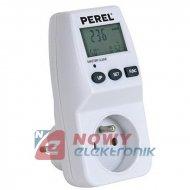 Miernik poboru energii 230V 16AP POL (Watomierz,Koszt) PEREL