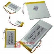 Akumulator do pakiet. 190mAh 3p LI-POLY 3,7V 44x33mmx3mm