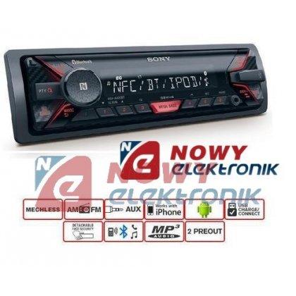 Radio samoch.SONY DSX-A400BT    RED  USB Bluetooth