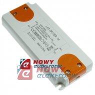 Zasilacz ZI LED prąd. 700mA 15W 15-24V plastik CC Driver