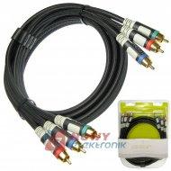 Kabel 3*RCA 1.8m ULTRA COMPONENT ICIDU