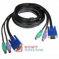 Kabel do przeł.KVM VGA+2xPS2 KYS-102 KVM