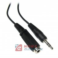 Kabel jack 3,5st wt.-gn. 10m ICIDU